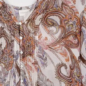 Monsoon Silk Floral Boho Tunic - 22